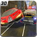 Rápido Police Car Chase 3D icon