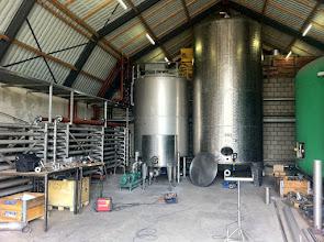 """Photo: Warmtewisselaar voor hygiënisatie en ammoniak strippen in aanbouw bij """"De Princepeel"""" een 5MW biogasinstallatie in Wilbertoord."""