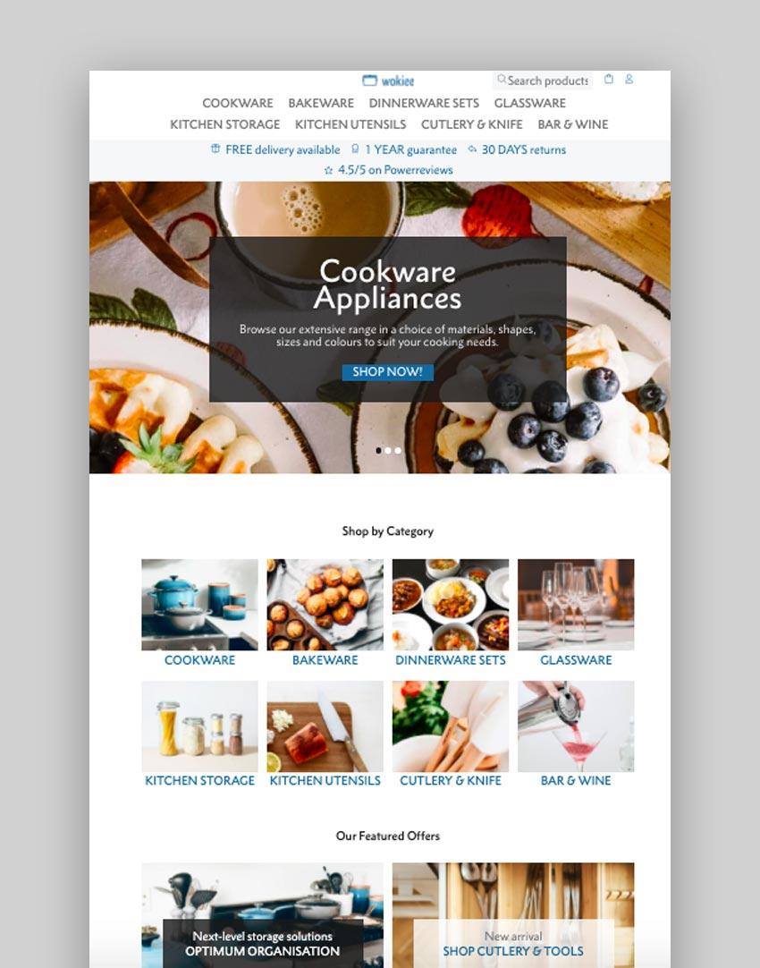 Shopify responsive themes Wokiee