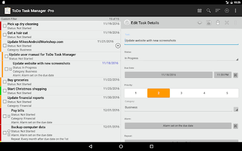 ToDo List Task Manager -Pro- screenshot thumbnail