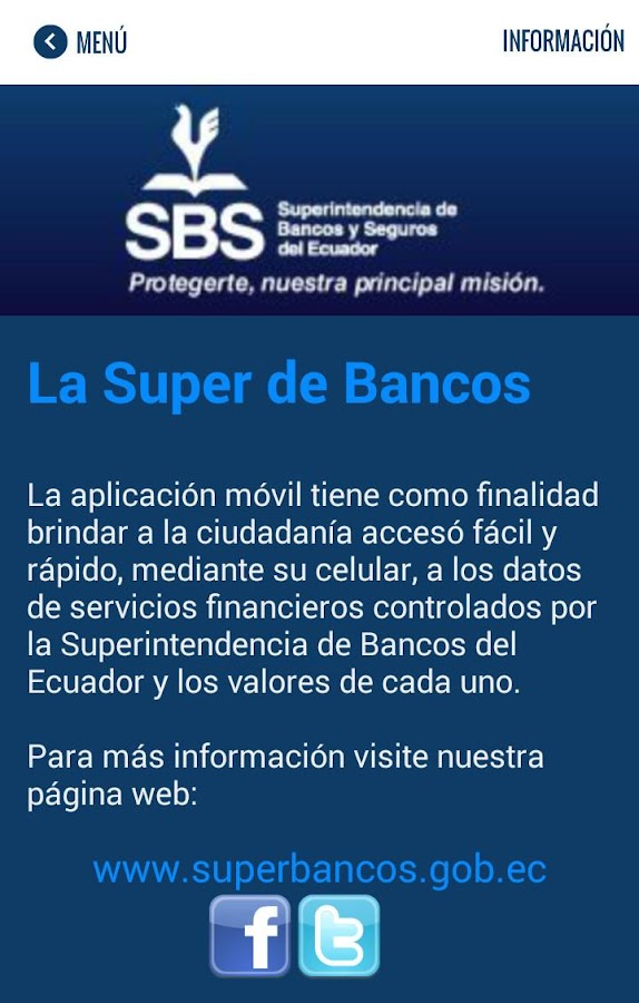 SBS - SuperApp: captura de pantalla