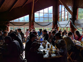 Photo: Dinner in Refugio Los Cuernos, which is reachable only on foot.  Another impressive performance by the Nexus 6P.