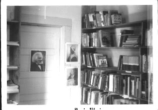 Photo: The Freedom shelf.  Posters are of F. Douglass, S. Truth, WC Handy