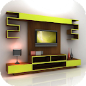 Muebles estantes tv icon