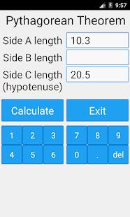 Pythagorean Theorem Calculator- screenshot thumbnail