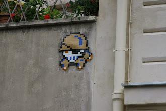 Photo: Street art - Space invaders -Paris XIIIe - rue du moulin des prés