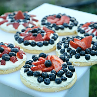 Red, White and Blueberry Cookie Tarts.