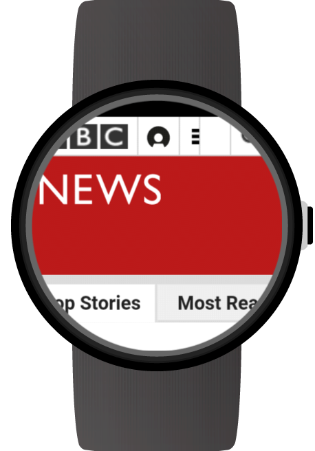Web Browser for Android Wear- screenshot