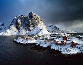 Photo: Lofoten, Norway  This is the film version of my previous G+ post (https://plus.google.com/u/0/photos/105706815883736796971/albums/5682400587082301985/5682400678693255410) that had been photographed digitally couple of hours earlier. You can see how the weather conditions change in the north, especially in winter (minutes after, the snow storm approached also to where I was), and what it can possibly do to the overall mood of the same compositions (I moved the position slightly as I was walking on the bridge).