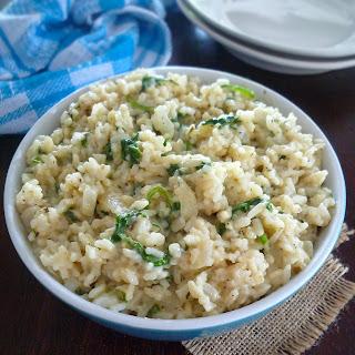 Creamy Cheddar & Spinach Rice