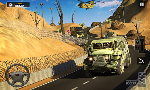 US Army Cargo Truck Transport Military Bus Driver screenshots 1