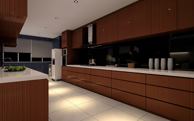 Design Challenges Kitchen Perspective Drawings
