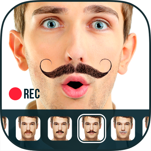 Mustache Photo Video Editor Icon