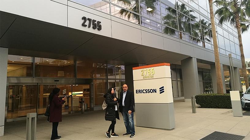 The entrance to the Ericsson Experience Centre in Santa Clara.