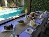 Indonésie. Cours de cuisine de Bali. Déjeuner de Bali incroyable avec une vue!