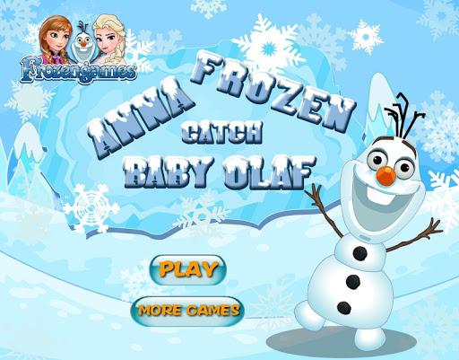 Princess Catch Frozen Snowman