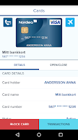 Screenshot of Nordea Mobile Bank – Sweden