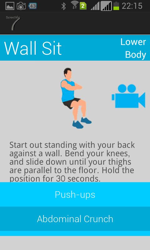 Scientific 7 Minute Workout - screenshot