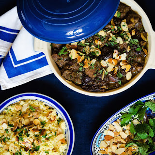 Lamb Tagine with Prunes and Almonds Recipe