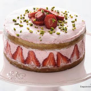 Strawberry Coconut Flour Cake.