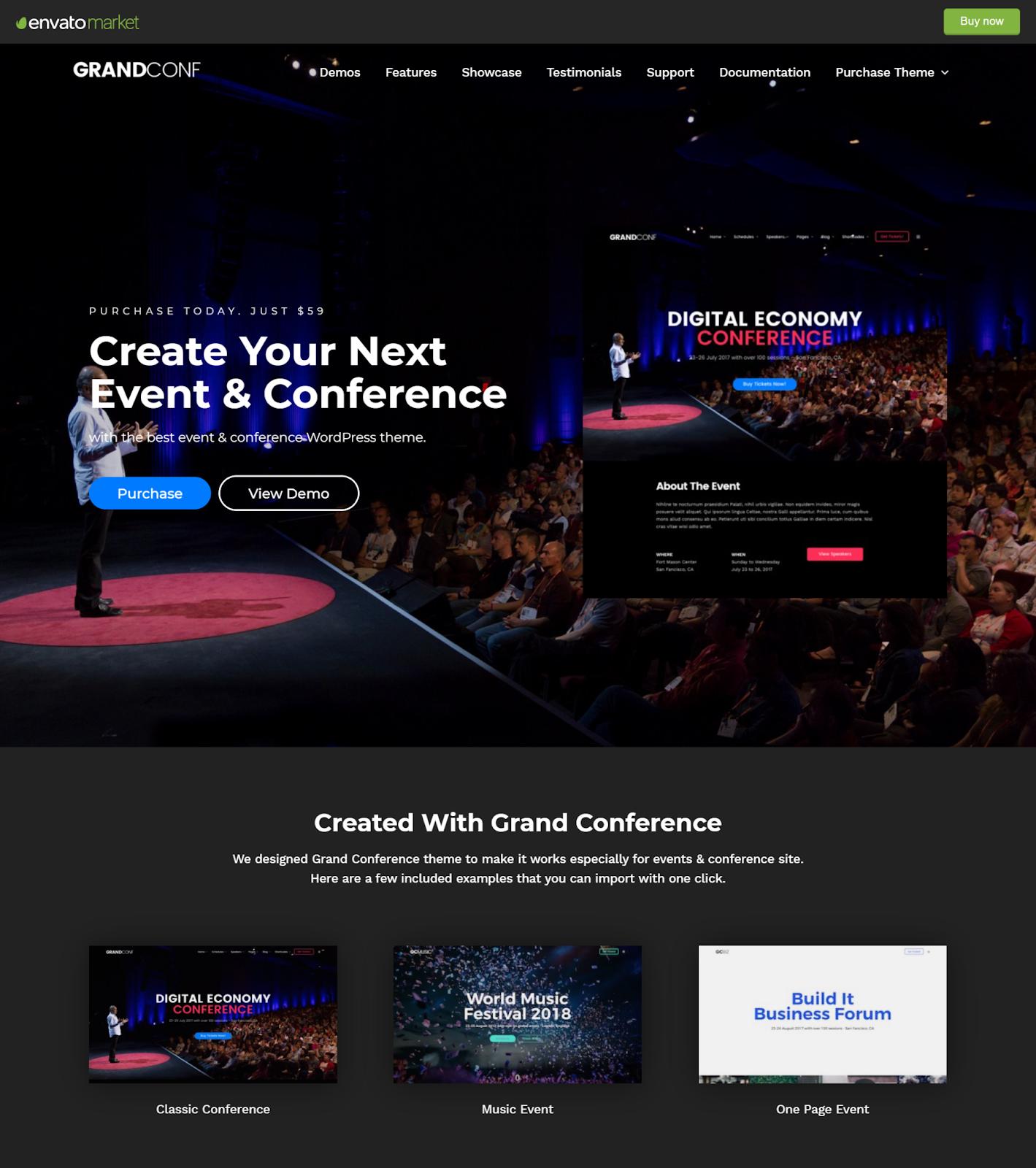 Grand Conference WordPress theme