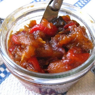 Roasted Eggplant & Red Pepper Chutney