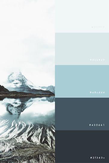 Winter Mountain Palette - Pinterest Pin Template