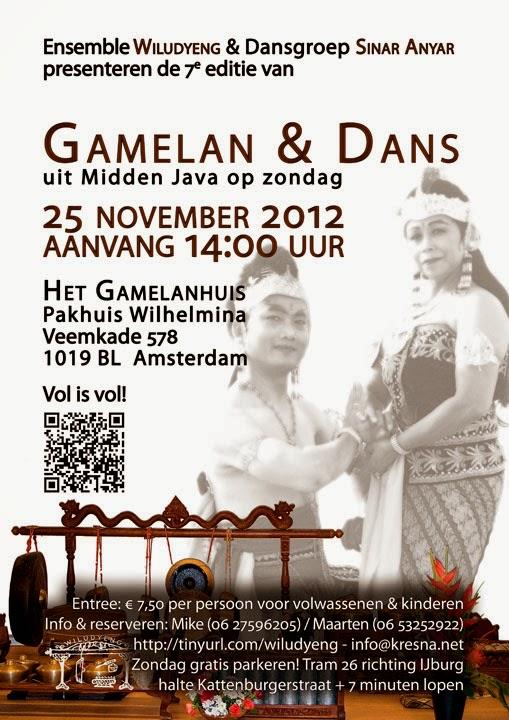 7e editie Concert Gamelan en Dans