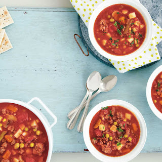 Chunky Vegetable Beef Soup.