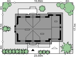 Dom przy Modrzewiowej 3 - Sytuacja