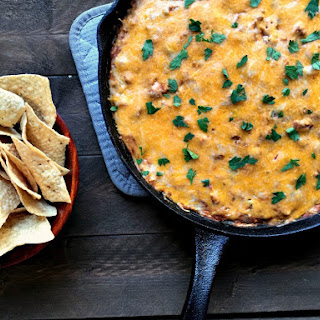 Cheesy Beef and Bean Dip