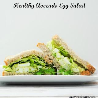 Healthy Avocado and Egg Salad.