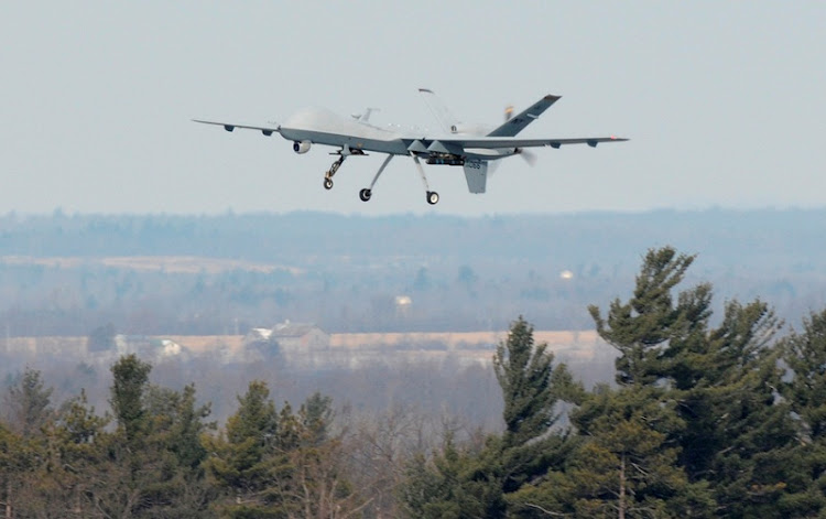 DEVILS: A US Air Force MQ-9 Reaper, also known as a drone, allowing the modern soldier to wage war in air-conditioned comfort. Picture: REUTERS