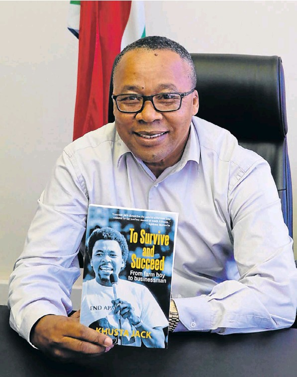 PE businessman Khusta Jack with his new book 'To Survive and Succeed – From farm boy to businessman'