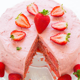 Strawberry Layer Cake with Strawberry Frosting Recipe