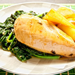 Balsamic Chicken and Pears with Spinach Recipe