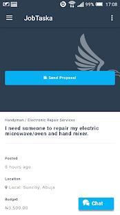 JobTaska App - náhled