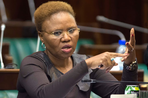 Social development minister Lindiwe Zulu said payments of social grants are being staggered through the week to curb overcrowding and long queues. File photo