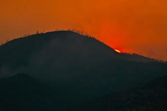 Photo: Fiery sunset