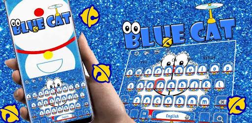 Kawaii Blue Cat Diamond Keyboard Aplikasi Di Google Play