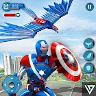 Super Hero Flying Captain Robot American City War icon