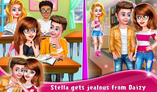 High School Love Triangle Crush Story screenshots 1