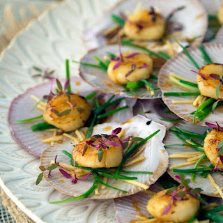 Sake Glazed Scallops