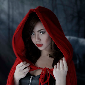 Red Riding Hood by Don Davies - People Portraits of Women ( red riding hood, fairy tale, grimm, woman, portrait, women, lady, red,  )