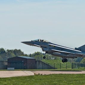 Typhoon landing by Tristan Wright - Transportation Airplanes ( plane, landing, air force, airbase, aircraft, typhoon, jet, fighter,  )