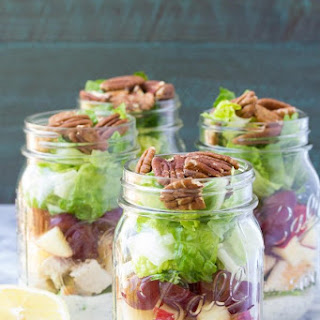 Chicken Salad Mason Jar Salads.
