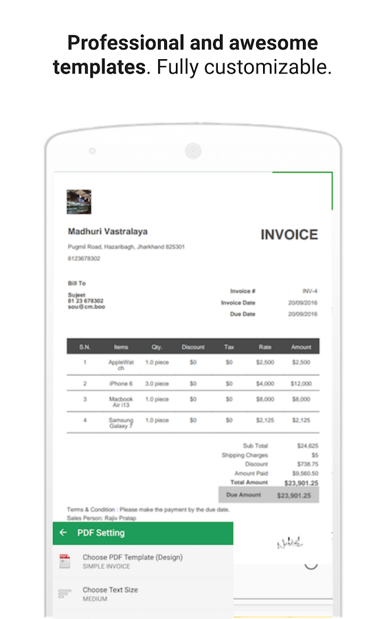 Small Business Invoicing Software Free Word Free Gst Invoice Estimate Account Inventory App  Android Apps  Receipt Of Letter with Receipts For Charitable Donations Excel Free Gst Invoice Estimate Account Inventory App Screenshot Lawn Care Invoice Excel