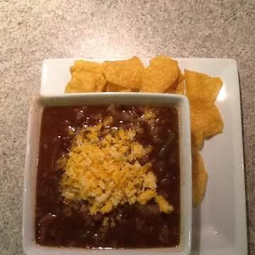 Fajita black bean soup
