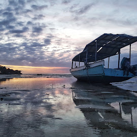 Sunset in Bali by Riaan Swanepoel - Instagram & Mobile Android ( water, bali, sunset, beach, boat )