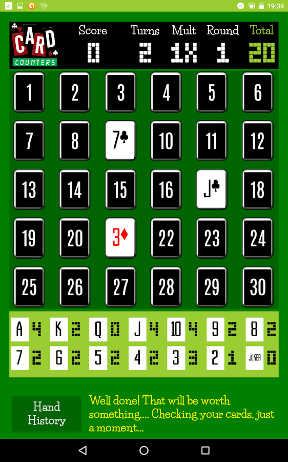 Card Counters Memory Blackjack Game!- screenshot